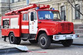 KIEV, UKRAINE - September, 27, 2017: Red Colorful Firetruck Kraz ... Spray Rescue Fire Truck Little Tikes Amazoncom Kid Trax Red Engine Electric Rideon Toys Games Kids Ride On Unboxing And Review Youtube Mega Bloks 3in1 Toy Amazoncouk For Riding Rombout Middle School Pto To With The Bravest Avigo Ram 3500 12 Volt Powered Cars Schylling Metal Speedster Vintage Marx Pressed Steel Revell Fisher Price Ebay