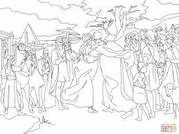 Joseph Meet Jacob Coloring Page From Son Of Category Select 27237 Printable Crafts Cartoons Nature Animals Bible And Many More