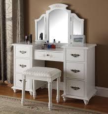 Wayfair Dresser With Mirror by Infini Furnishings Makeup Vanity Set With Mirror U0026 Reviews Wayfair