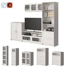 3d set furniture ikea brimnes model turbosquid 1289279