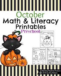 Printable Halloween Books For Preschoolers by October Preschool Worksheets Planning Playtime