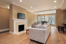 Recessed Lighting Contemporary Living Room