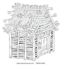 Full Image For Three Little Pig Colouring Pages Pigs Fairy Tale House Made Of