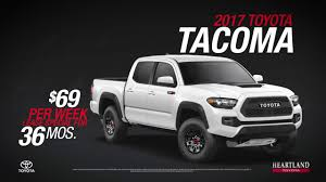 For A Limited Time Lease A New 2017 Tacoma For $69/ Week! - YouTube 2018 Toyota Tacoma Pickup Truck Lease Offers Car Clo Vehicle Specials Faiths Santa Mgarita New For Sale Near Hattiesburg Ms Laurel Deals Toyota Ta A Trd Sport Double Cab 5 Bed V6 42 At Of Leasebusters Canadas 1 Takeover Pioneers 2014 Hilux Business Lease Large Uk Stock Available Haltermans Dealership In East Stroudsburg Pa 18301 Photos And Specs Photo