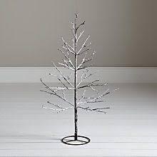 Buy John Lewis Pre Lit Snowy Twig Christmas Tree White 4ft Online At