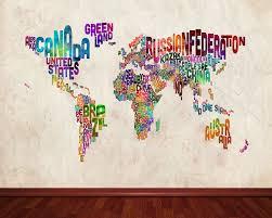 Text Art World Map Wallpaper