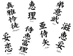 Your Name in Kanji