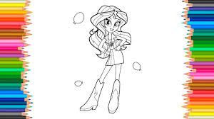 MLP My Little Pony Equestria Girls Coloring BooK Sunset Shimmer Is A Girl Pages Funny