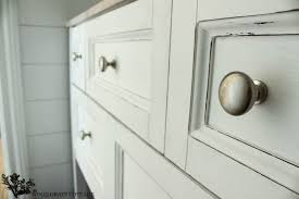 Americana Decor Chalky Finish Paint Lace by Powder Bathroom Vanity Makeover The Wood Grain Cottage