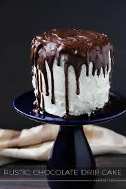 Rustic Chocolate Drip Cake