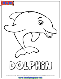 Cartoon Dolphin Coloring Page