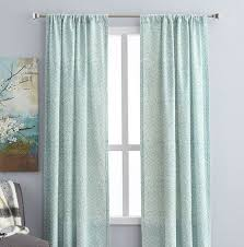 hometrends rochelle 84 printed window curtain rod pocket panel