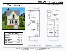 Small Narrow House Plans Colors Gmfplus Architects Narrow Lots The Simone House Plan Study