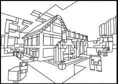 Minecraft Diamond Coloring Pages Colouring Page 2