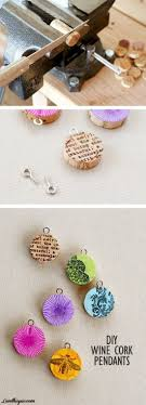 Diy Cork Screw Pendants Make Your Own Jewelry From Recycled Corks Great Teen Craft