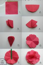 Flower Out Of Paper Flowers