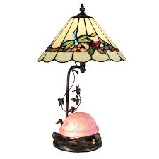 Antique Tiffany Lamps Ebay by Dale Tiffany Pink Turtle Table Lamp With Night Light Tt13002