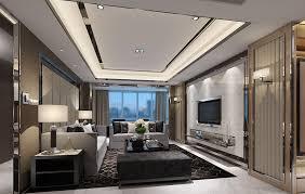 contemporary minimalist living room walls and lighting interior
