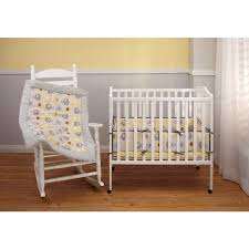 Little Bedding by NoJo Elephant Time Portable Crib Bumper Yellow