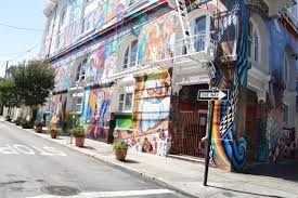 Balmy Street Murals Address by San Francisco Top California One Way
