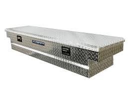 100 Diamond Plate Truck Bed Lund 72Inch Slimline Cross Tool Box Full Lid Aluminum