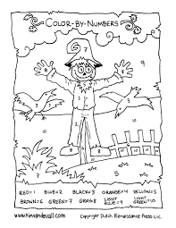 Halloween Acrostic Poem Template by Scarecrow Color By Numbers Tim U0027s Printables
