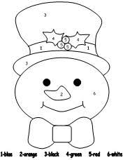 Snowman Color By Number From Making Learning Fun In Winter Coloring Pages Printables
