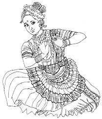 Coloring PageIndia Page India Pages Dance Style Print