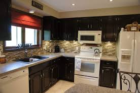 furniture black color staining oak kitchen cabinets with white