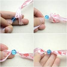 How To Make A Beaded Bracelet With Ribbon And Beads Step 3