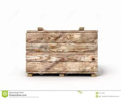 Wooden Box Isolated On White Background Front View Stock