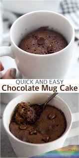 microwave chocolate mug cake is the easiest and fastest way