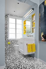 black white bath w mosaic tile contemporary bathroom san