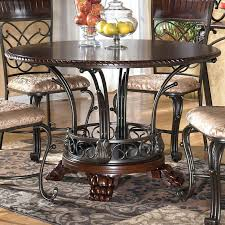 Ashley Furniture Dining Table Set Round Glass With 6 Chairs