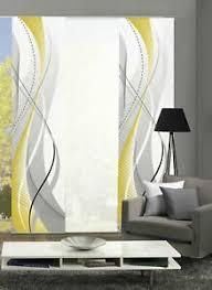 details zu 3er set schiebegardine wuxi blickdicht höhe 245 cm gelb
