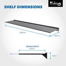 ideal für badezimmer küche optik schwebend wandregal aus