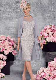 column 3 4 sleeve bateau knee length lace mother of the bride