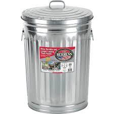 Small Bathroom Trash Can With Lid by Behrens High Grade Steel 1211 20 Gal Silver Galvanized Steel Trash