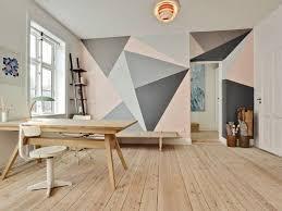 peinture mur chambre sublimer un mur et apporter du volume les effets graphiques en