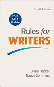 Amazon Rules For Writers With 2016 MLA Update 9781319083496 Diana Hacker Nancy Sommers Books