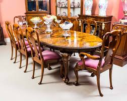 This Is A Fabulous Antique Burr Walnut Dining Set Comprising Table