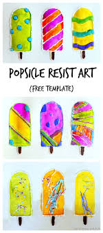 Keep Cool This Summer With Fun Popsicle Resist Art FREE Printable Popsicles Can Be Used