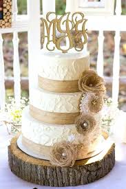 Burlap Wedding Cakes Elegant Rustic Anniversary Cake And Lace