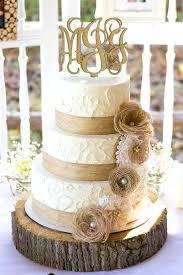 Burlap Wedding Cakes Elegant Rustic Anniversary Cake And Lace