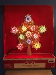 Image Is Loading NEW Christmas Star Light Up Tree Topper Retro