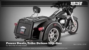 Vance And Hines Dresser Duals Heat Shields by Power Duals Trike Deluxe Slip Ons 2012 Harley Davidson Trike Tri