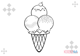 Free Printable Ice Cream Coloring Pages For Kids Page Cone Photo