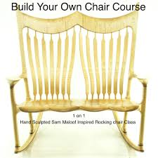 sam maloof rocking chair class build your own chair class curly maple rocking chair