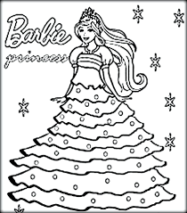 Barbie Princess Coloring Pages To Print Free Games Printable Kids Online Full Size
