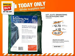 Great Deal on the Home Depot Site Today 9 by 9 Foot Tarp ly
